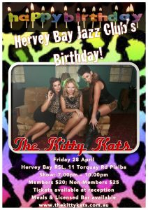 Hervey Bay Jazz Club birthday poster